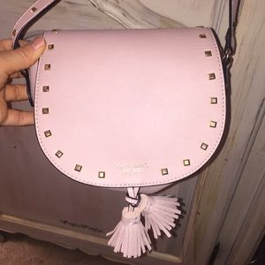 Light Pink adjustable purse with gold studs!